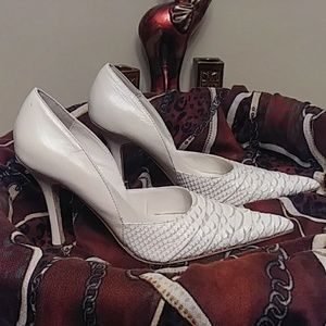 Aldo White Pumps